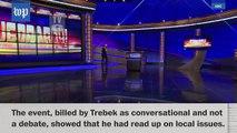 """Jeopardy!"" host Alex Trebek tests moderating skills at Pennsylvania gubernatorial debate"