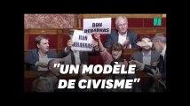 """""""Bon débarras"""", les Insoumis perturbent la dernière prise de parole de Valls à l'Assemblée"""