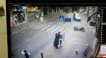 لحظة دهس سائق دراجة نارية في القدس