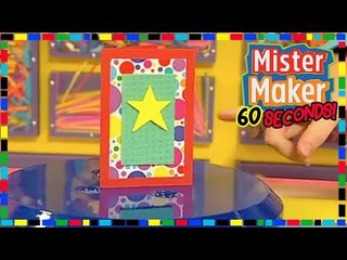 Spongy Card  - HOW TO MAKE IN 60 SECONDS | Mister Maker