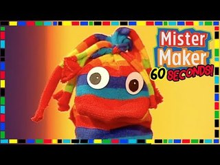 Sock Animal  ️  ️- HOW TO MAKE IN 60 SECONDS | Mister Maker