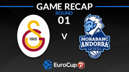 7Days EuroCup Highlights Regular Season, Round 1: Galatasaray 84-73 Andorra
