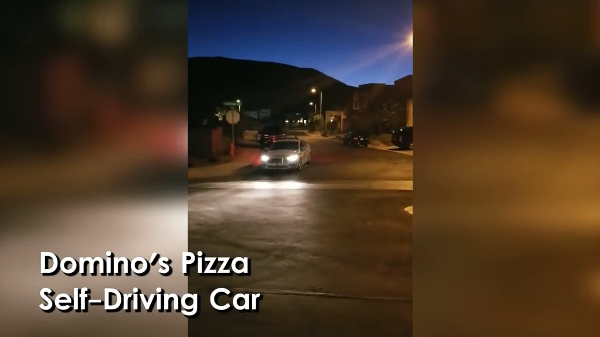 Guy Orders Dominos & It's Delivered By A Driverless Car!  Video
