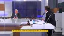 """Rédoine Faïd / Gérard Collomb """"Il y a une forme de contraste entre un ministre d'Etat qui abandonne son poste et des policiers qui sont engagés"""" affirme Gérard Larcher, président LR du Sénat"""