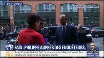 Édouard Philippe est arrivé à la PJ de Nanterre pour féliciter les enquêteurs après l'arrestation de Redoine Faïd