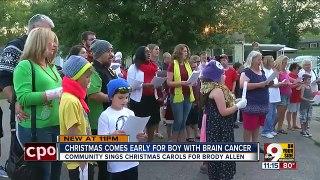 Un village fête déjà Noël pour un enfant en phase terminale