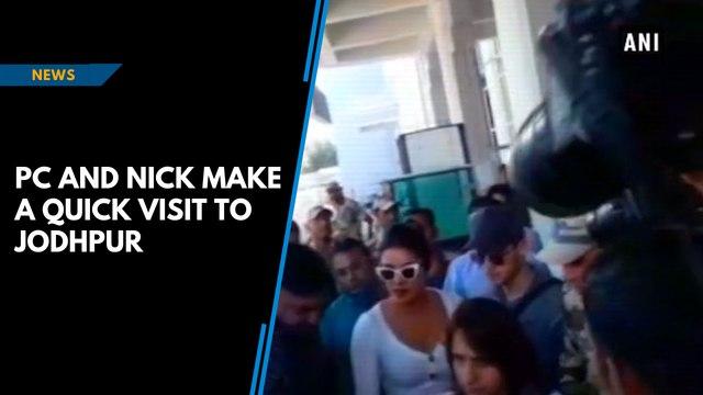 Watch: Priyanka Chopra and Nick Jonas in Jodhpur