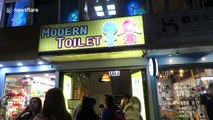 Inside the bizarre Taiwanese restaurant where you can eat noddles out of a toilet
