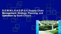 PDF] FREE Supply Chain Management: Strategy, Planning, and