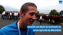 Quentin, futur agriculteur