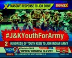 Jammu and Kashmir's youth joins Indian army's recruitment drive in Srinagar | The X Factor