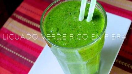 Licuado verde para estar satisfecha entre comidas