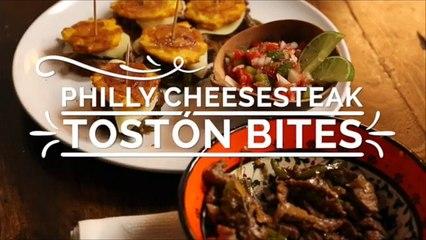 Philly Cheesesteak Tostón Bites