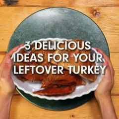 Three Delicious Ideas for Your Leftover Turkey