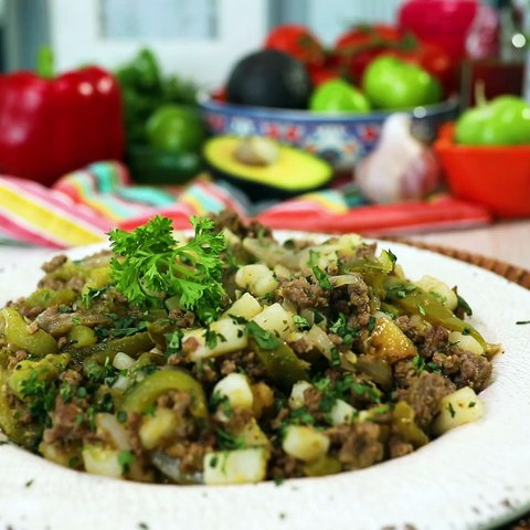 Chile Verde Beef Picadillo