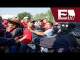 Maestros y policías de Quintana Roo se enfrentan a golpes (VIDEO) / Vianey Esquinca