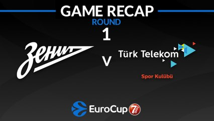 7Days EuroCup Highlights Regular Season, Round 1: Zenit 91-88 Turk Telekom