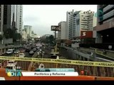 Reportan tráfico vial por reducción de carriles en Periférico