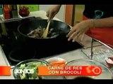 Cocinemos Juntos. Carne de res con brócoli y camote estilo chino