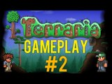 Terraria Gameplay - Lets Play - #2 (Let's go mining!) - [Walkthrough / Playthrough]