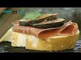 ¿Cómo preparar unos faciles crostinis con jamón serrano, higos y menta?. Cocinemos Juntos