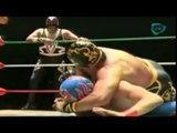 Oro Jr vs Sangre Azteca Tercera Caída CMLL