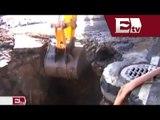 Socavón provoca cierre de carriles centrales en Periférico Norte/ Comunidad Yazmin Jalil