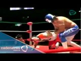 Blue Panther, The Panther y Valiente vs Cráneo, Tiger y Puma  15/06/15