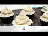 Receta de cupcakes de betún con chocolate blanco. Receta de cupcakes / Receta de betún