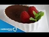 Receta para preparar creme brulee de chocolate. Cocinando con José Ramón / Chocolates