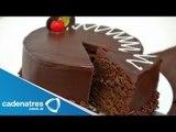 Receta para preparar pastel de chocolate.  Receta de pasteles : Pastel de chocolate