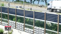 Highway sound barriers with solar panels produce green energy