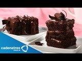 Receta para preparar pastel de chocolate triple. Receta de pastel de chocolate / Pastel de chocolate