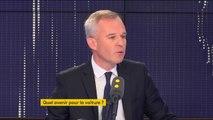 """""""A l'horizon 2040, sans doute que oui, l'avenir de l'automobile est à une automobile qui n'émet plus du tout de CO2 : soit électrique, soit hydrogène"""", estime le ministre de l'Ecologie François de Rugy"""