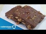 Receta para preparar barras de chocolate con caramelo. Receta de barras de chocolate