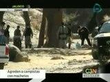 Campistas de Jalisco son agredidos por un grupo de hombres con machetes