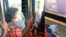 VIDEO: चलती ट्रेन से गिरी लड़की, लड़के ने जान पर खेल कर ऐसे बचाई जान
