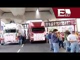 Transportistas bloquean carriles centrales del  Anillo Periférico  / Andrea Newman