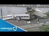 Nuevas revelaciones del accidente de Tren en Galicia, España / accidente tren Santiago de Compostela
