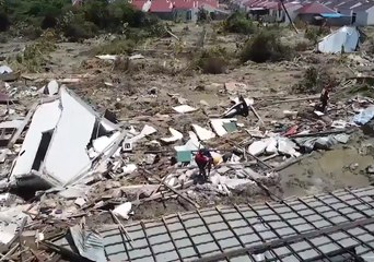 Drone Footage Shows Mud-Flooded Suburb 'Wiped Out' by Tsunami