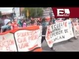 Normalistas de Michoacán retienen vehículos y realizan bloqueos  / Excélsior Informa