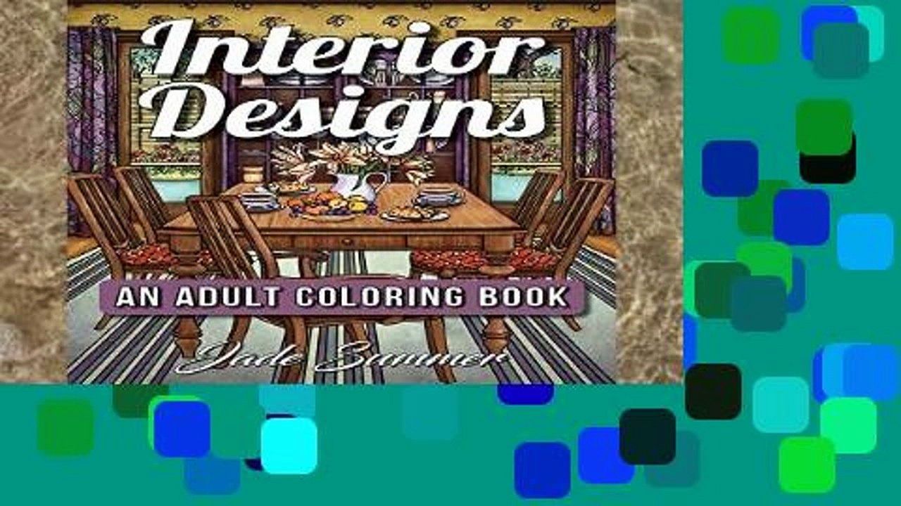Library  Interior Designs: An Adult Coloring Book with Inspirational Home Designs, Fun Room Ideas,