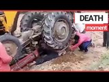 Indian Farmer Partially Gets Crushed By His Tractor   SWNS TV