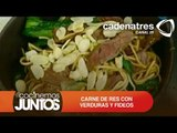 CARNE DE RES CON VERDURAS Y FIDEOS ¿Cómo preparar carne de res con verduras y fideos?