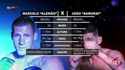 """#11.1 - SFT5 - Principal - Peso-pena- João """"Samurai"""" (Força e Equilíbrio) x t (Spaukaukas Team)"""