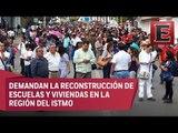 Sección 22, de la CNTE, marcha en Oaxaca contra el congreso del SNTE