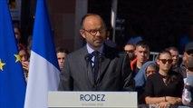 Edouard Philippe rend un hommage national à Pascal Filoé