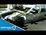 Sobrevive automovilista tras sufrir fuerte accidente en carriles centrales de Periférico Sur