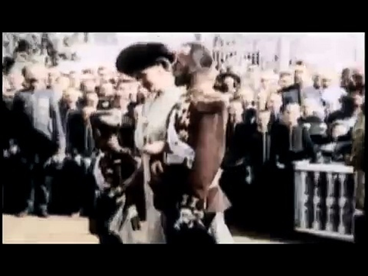 Rare newsreel in color 1913 - 1916. Emperor Of Russia Romanov Nikolay Alexandrovich