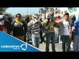 Normalistas de Michoacán realizan diversos bloqueos en las calles de Morelia